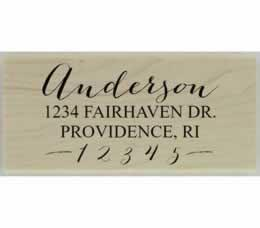 "Anderson Calligraphy Return Address Stamp - 2.5"" X 1.25"" - Stamptopia"