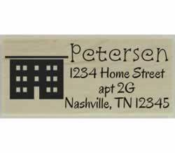 "Apartment Return Address Stamp - 2.5"" X 1"" - Stamptopia"