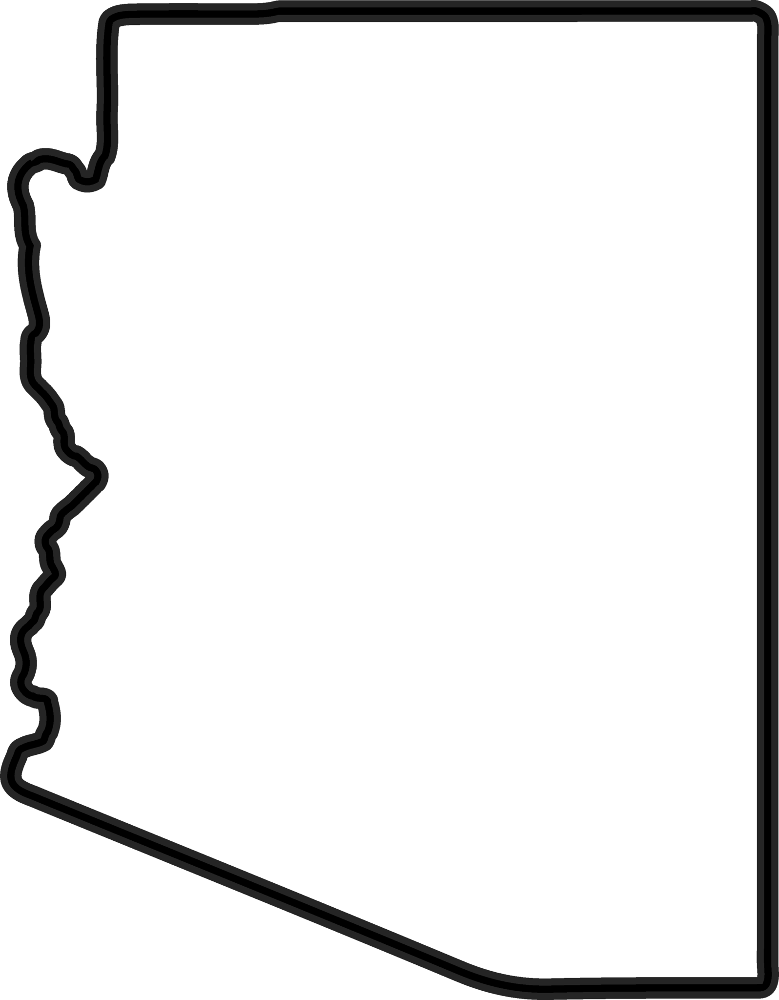 outline of the state of arizona