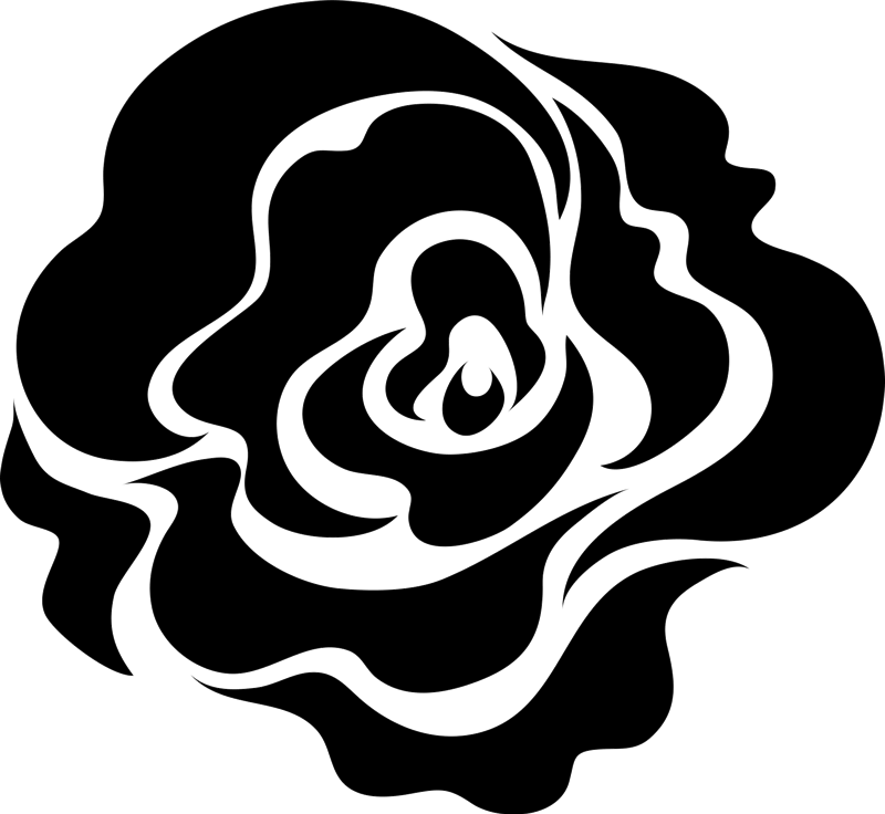 Artistic Blooming Rose Rubber Stamp - Stamptopia
