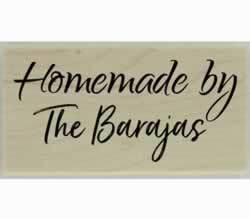 "Barajas Homemade By Custom Stamp - 1.5"" X 0.75"" - Stamptopia"
