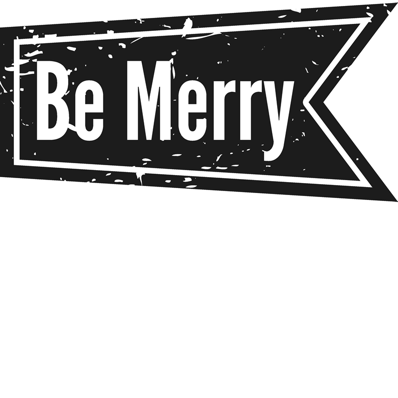 Be Merry Rubber Stamp - Stamptopia