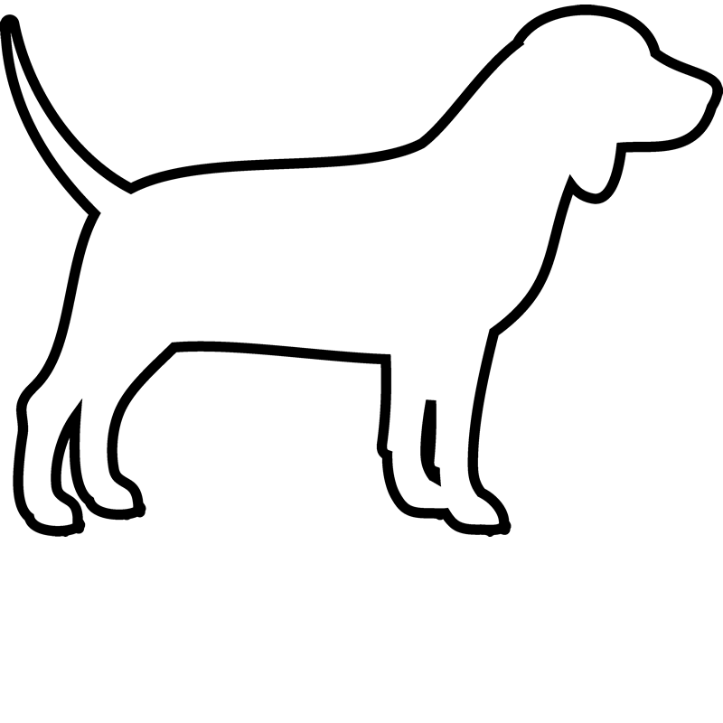 outline of a dog - Isken kaptanband co