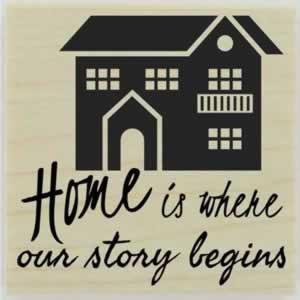 "Beautiful Home Custom Quote Stamp - 1.5"" X 1.5"" - Stamptopia"