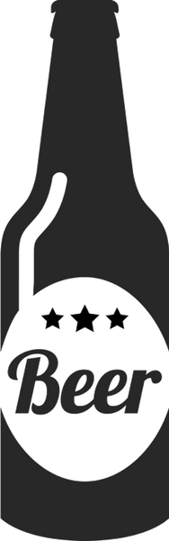 Beer Bottle With Three Stars Rubber Stamp - Stamptopia