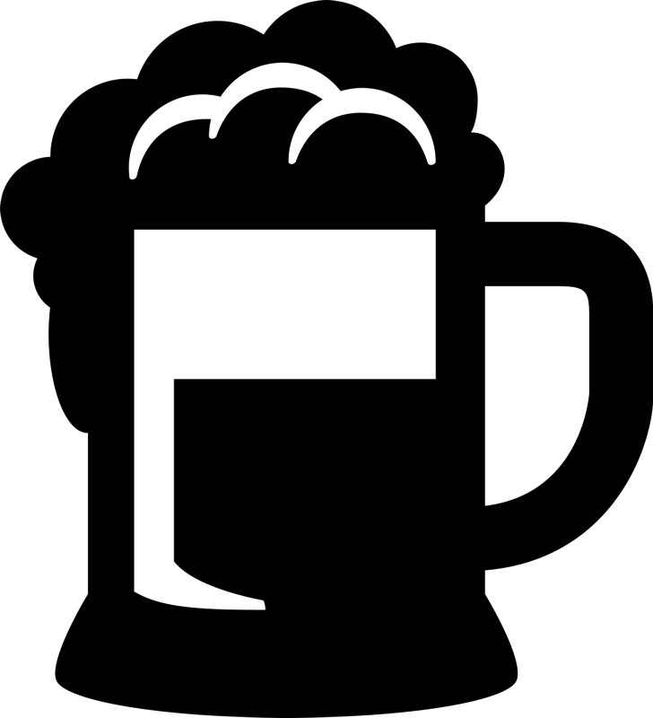 Beer Mug With Froth Rubber Stamp - Stamptopia