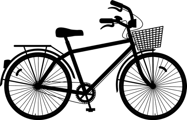 Bicycle With A Basket Stamp - Stamptopia