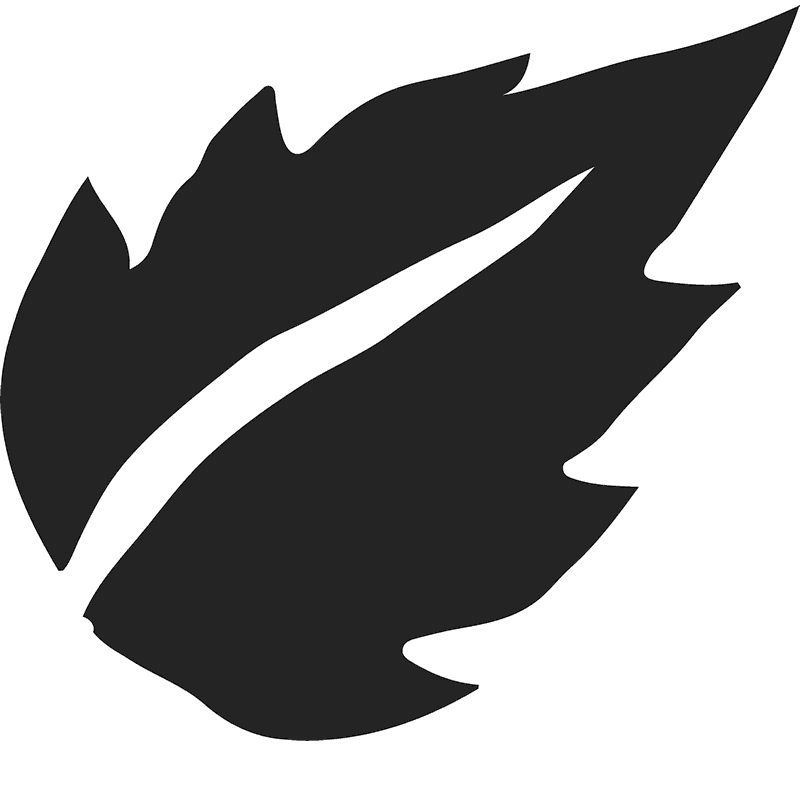 Birch Leaf Silhouette Rubber Stamp - Stamptopia