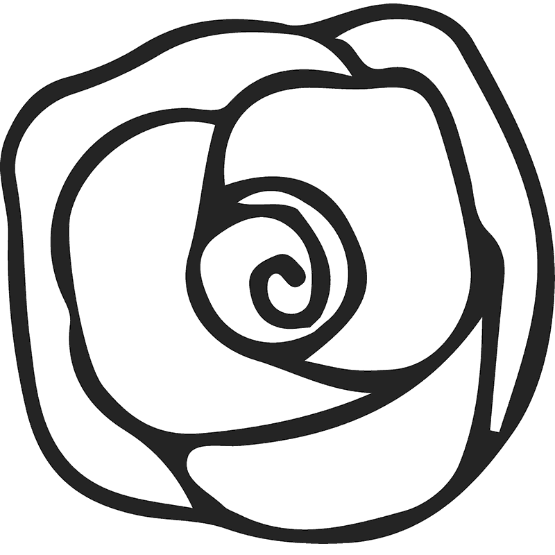 Blooming Rose Rubber Stamp - Stamptopia