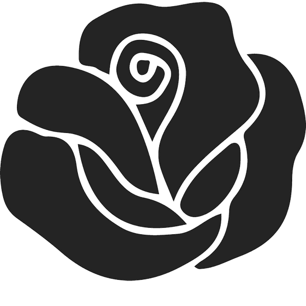 Bold Blooming Rose Rubber Stamp - Stamptopia