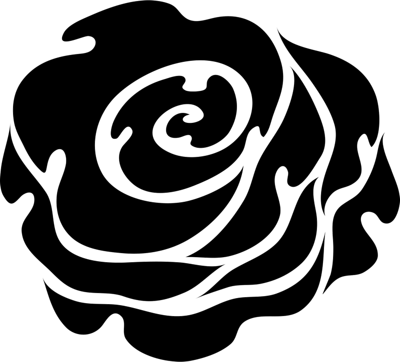 Bold Rose Rubber Stamp - Stamptopia