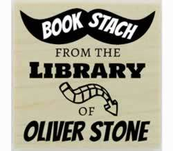 "Book Stach Personal Library Stamp - 1.5"" X 1.5"" - Stamptopia"