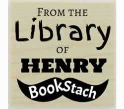 "Book Stach Personalized Library Stamp - 1.5"" X 1.5"" - Stamptopia"