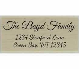 "Boyd Calligraphy Return Address Stamp - 2.5"" X 1.25"" - Stamptopia"