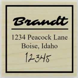 "Brandt Custom Square Border Address Stamp - 2"" X 2"" - Stamptopia"