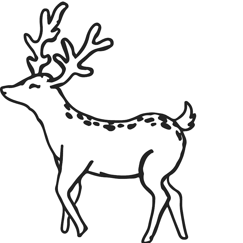 Buck Rubber Stamp Outline