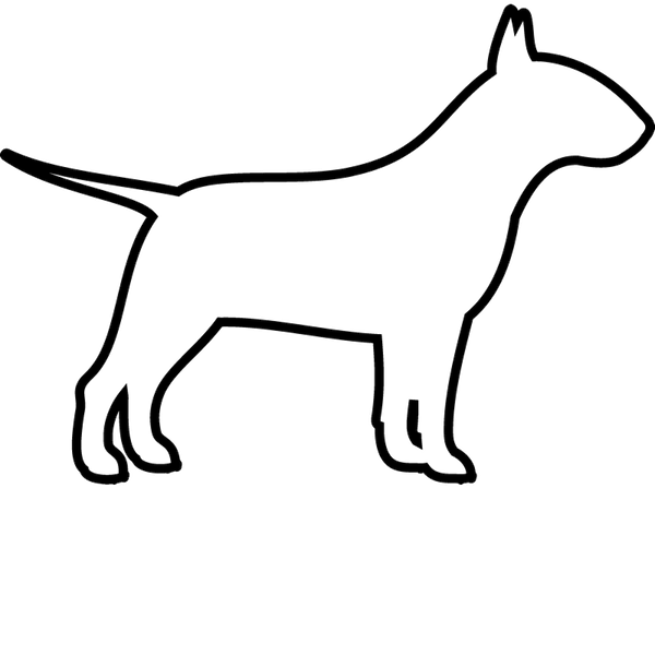 Bull Terrier Stamp (Outline) - Stamptopia