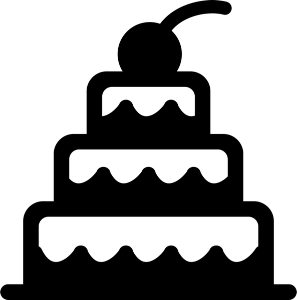 Cake With Cherry On Top Rubber Stamp - Stamptopia