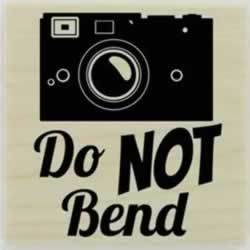 "Camera And Do Not Bend Custom Stamp - 1.5"" X 1.5"" - Stamptopia"