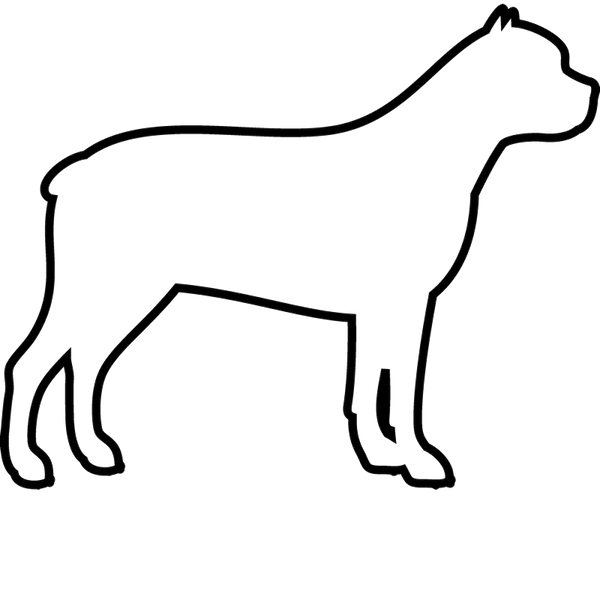 Cane Corso Rubber Stamp (Outline) - Stamptopia