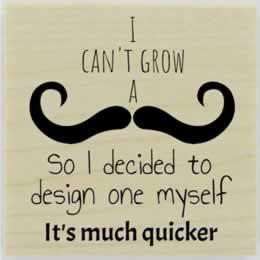 "Can'T Grown A Moustache Stamp - 2"" X 2"" - Stamptopia"