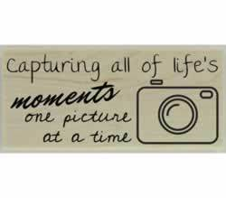 "Capturing All Of Life'S Moments Stamp - 2.5"" X 1"" - Stamptopia"