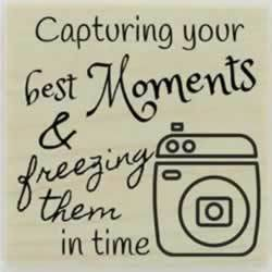 "Capturing Your Moments Custom Stamp - 1.5"" X 1.5"" - Stamptopia"