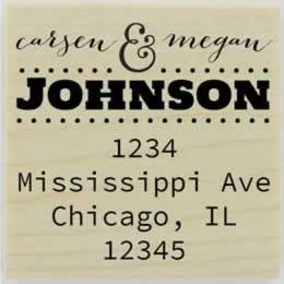 "Carsen Calligraphy Address Stamp - 1.5"" X 1.5"" - Stamptopia"