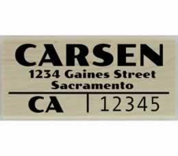 "Carsen Split Line Address Stamp - 2.5"" X 1.25"" - Stamptopia"