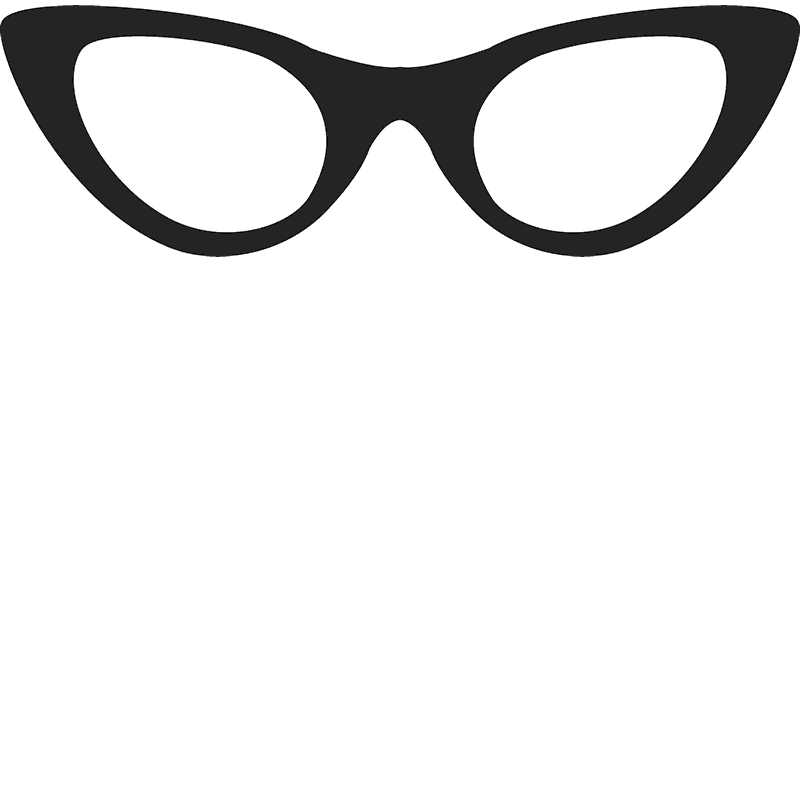 Cat-Eye Glasses Stamp - Stamptopia
