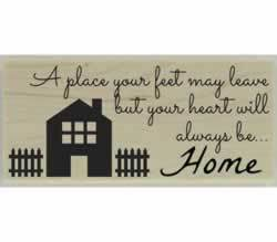 "Charming Home Quote Custom Stamp - 2.5"" X 1"" - Stamptopia"