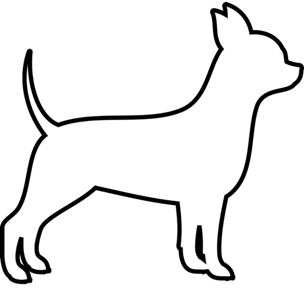 Chihuahua Rubber Stamp (Outline) - Stamptopia