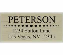 "Circle Divider Custom Return Address Stamp - 2.5"" X 1.25"" - Stamptopia"