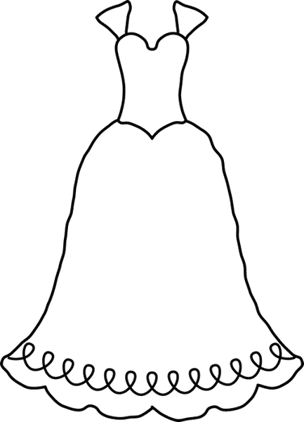 Classic Wedding Dress Stamp - Stamptopia