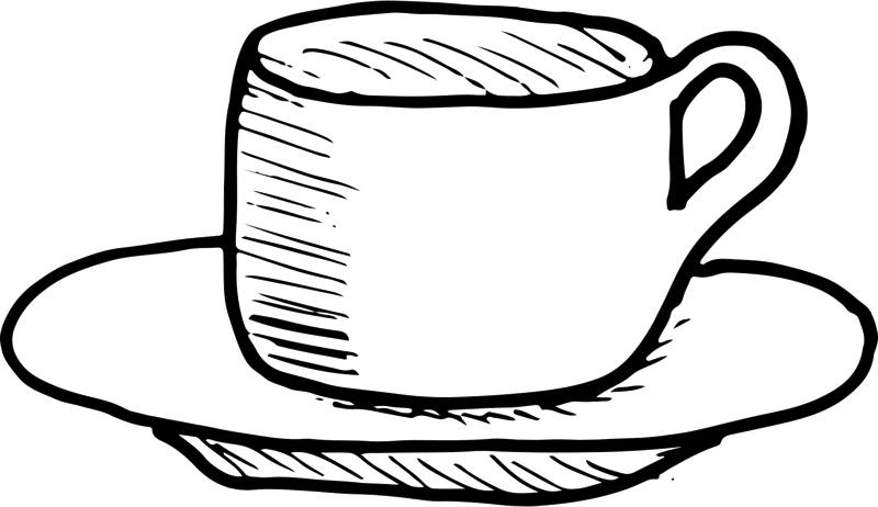 Coffee Cup On Saucer Rubber Stamp - Stamptopia