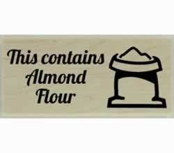 "Contains Almond Flour Custom Stamp - 2"" X 1"" - Stamptopia"