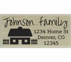 "Cozy Cottage Return Address Stamp - 2.5"" X 1"" - Stamptopia"