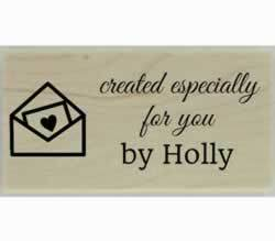 "Created Especially For You Custom Stamp - 1.5"" X 0.75"" - Stamptopia"