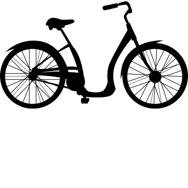 Cruiser Bicycle Rubber Stamp - Stamptopia