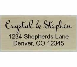 "Crystal Handwritten Return Address Stamp - 2.5"" X 1.25"" - Stamptopia"