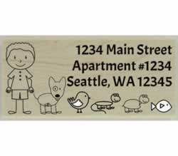 "Custom Animal Guy Address Stamp - 2.5"" X 1.25"" - Stamptopia"