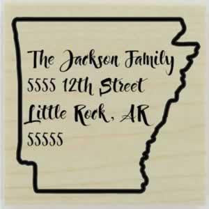 "Custom Arkansas Stamp Design 1 - 1.5"" X 1.5"" - Stamptopia"