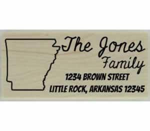 "Custom Arkansas Stamp Design 3 - 2.5"" X 1"" - Stamptopia"