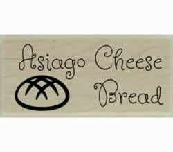 "Custom Asiago Cheese Bread Stamp - 2"" X 1"" - Stamptopia"