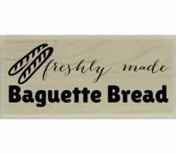 "Custom Baguette Bread Design Stamp - 2"" X 1"" - Stamptopia"