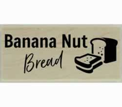 "Custom Banana Nut Bread Stamp - 2"" X 1"" - Stamptopia"
