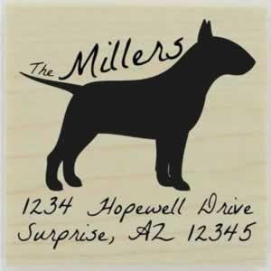 "Custom Bull Terrier Stamp Design 1 - 1.5"" X 1.5"" - Stamptopia"