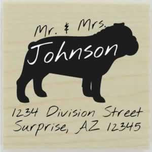 "Custom Bulldog Stamp Design 1 - 1.5"" X 1.5"" - Stamptopia"