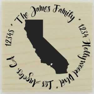 "Custom California Stamp Design 2 - 1.5"" X 1.5"" - Stamptopia"