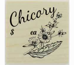 "Custom Chicory Herb Stamp - 1.5"" X 1.5"" - Stamptopia"